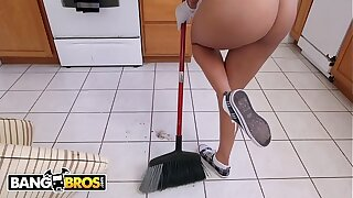 BANGBROS - Latina Maid Abby Lee Brazil Gets Naked And Fucks For Cash