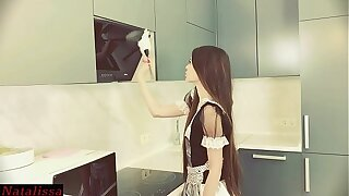 Helpless Maid Got Stuck And Desperately Called For Help - Natalissa