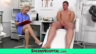 Mature nurse MILF Maya hot stockings