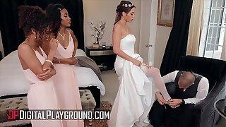 Bridesmaids (Demi Sutra, Desiree Dulce, Scarlit Scandal) eat pussy - Digital Playground