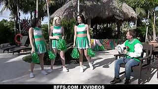 Slutty Cheerleaders Sabrina Snow, Alice Visby & Sofie Reyez Surprise Judge