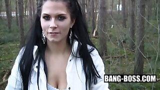 Teen Date - Stupid Teen Slut exploited outdoors in the woods