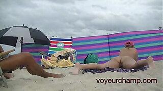 A taste of my join up Nude Beach MILF Mrs Brooks Voyeur POV 8