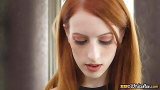 First anal gape for beautiful redhead slut during IR fuck