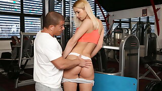 STUCK4K. Coach saw the helpless girl and lured her in