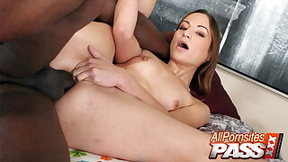 Amber Rain's Ass Creampied By A big Black Cock