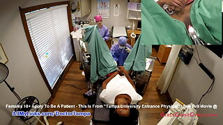 Nikki Stars' New Student Gyno Exam By Doctor From Tampa On Spy Cam