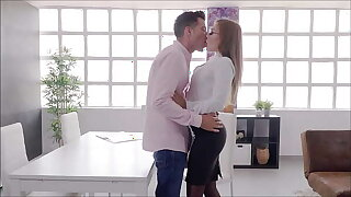FOR WOMEN Fucking my boss Alberto Blanco in his office. Huge anal cock with Misha Maver 4K COCK ADDICTION by PORNBCN
